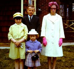 1966 vintage 35MM slide photo Easter Outfits Staten Island New York