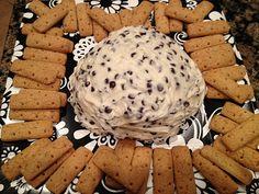 Cream cheese chocolate chip ball with graham crackers