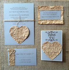 Handmade wedding invitation set!