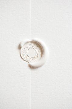 wax seal - White