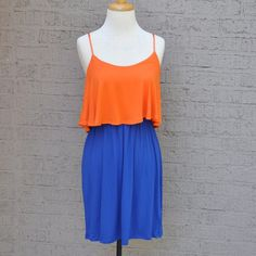 Game Day Girl Dress (Orange & Blue)