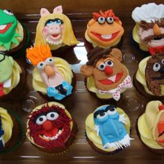 Muppets Cupcakes...So awesome, I could never eat them!
