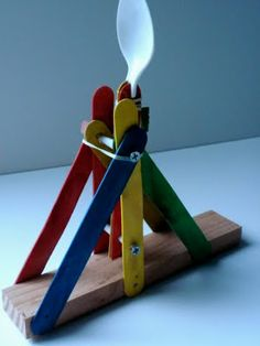 Catapult. Oh, yeah! Kids will looooove this!!!    #science #physics #kids #play #children