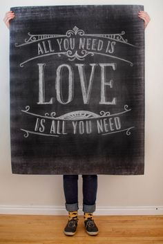 $5 All you Need is Love (and a large format printout of this poster!)   A must have for Valentine's Day... don't you think?