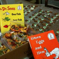 Read Across America Day treats with Dr. Seuss books:)