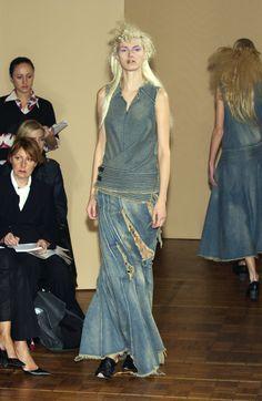 #Junya Watanabe -- spring 2002  jean trouser #2dayslook #new #fashion #nice  www.2dayslook.com