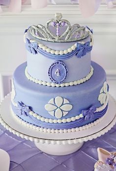 Sofia the First inspired birthday cake