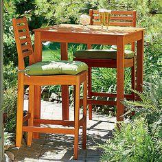 Wood Bar Table bar tabl, patio sets, patio furnitur