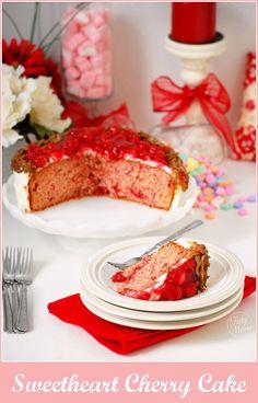 sweetheart cherry cake, valentine's dessert