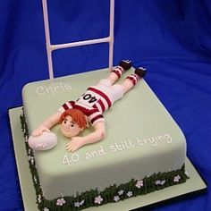 Rugby Cake:  My Brother would love this