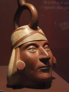 Ceramic portrait vessel Moche 100-800 CE La Libertad Region Peru by mharrsch, via Flickr