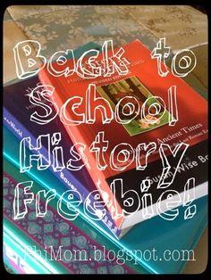PhiMom: My Very First Freebie - A Back to School History Freebie