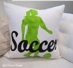 soccer girl silhouette pillow This is not a want.. This is a NEED