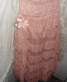 1930s Antique Pink Lace Dress Beauty by MichelleReneeArt on Etsy, $229.00