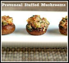 Provencal Stuffed Mushrooms.