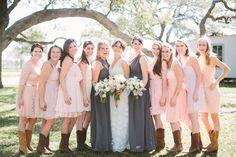 blush + gray bridesmaids | Taylor Lord #wedding