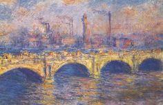 Waterloo Bridge, Sunlight Effect, 1903, Claude Monet