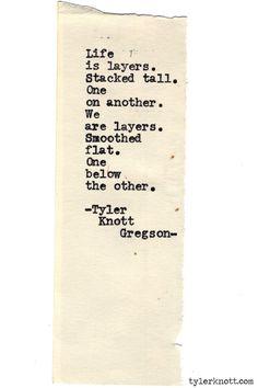 Typewriter Series #594byTyler Knott Gregson