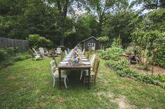 Dreamy garden dinner hosted by Homespun ATL » heart, it races