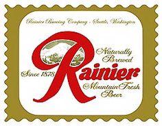 Rainier Beer label