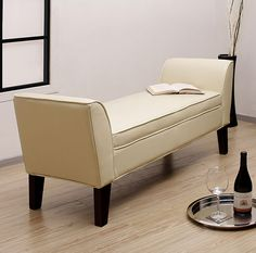 Leather bench for bedroom