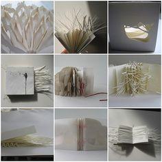 cut paper books by littlepaperbird, via Flickr