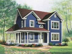 Eplans New American House Plan - Home Office on Main Floor - 1746 Square Feet and 3 Bedrooms from Eplans - House Plan Code HWEPL13767