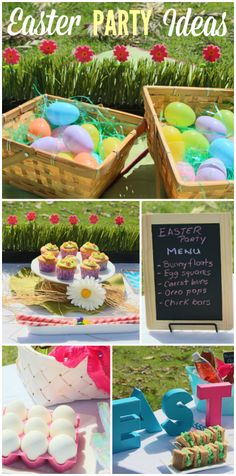 You'll find Easter treats, sweets and fun decorations at this party!  See more party ideas at CatchMyParty.com!