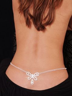 Butterfly low back belly chain