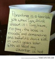 Parenting is a terrible job…
