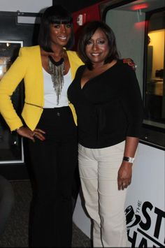Actress Tasha Smith and our very own, Shaila! https://www.wbls.com