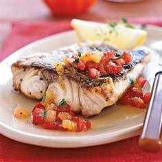 Pan-roasted Sea Bass with Citrus-Heirloom Tomato Vinaigrette