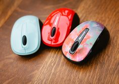 3 fun colored mice  http://www.microsoft.com/hardware/en-us/p/wireless-mobile-mouse-3500-limited-edition-alt1/GMF-00014