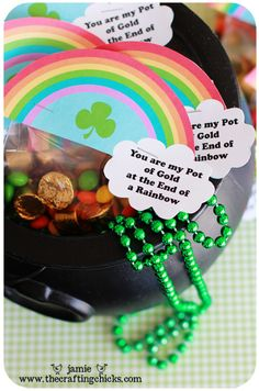 """You are my pot of gold at the end of the Rainbow""- printable + treasure hunt"
