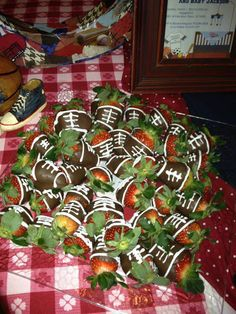 Sports Theme Baby Shower  Football Strawberries