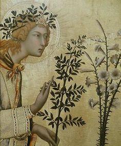 Simone de Martini - Annunciation (detail)