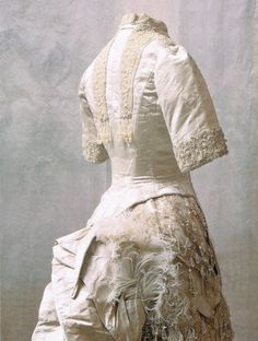 Ball gown worn by the Empress Maria Feodorovna, c1886.