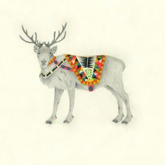 Lisa Congdon Art + Illustration » male reindeer