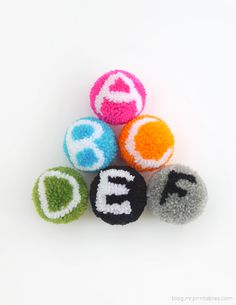Alphabet Pompoms Tutorial