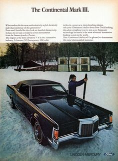 1969 Continental Mark III by Lincoln #Lincoln #Continental #Rvinyl  =========================== http://www.rvinyl.com/Lincoln-Accessories.html