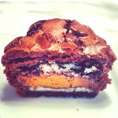 Brownie with oreo and reeses in it!