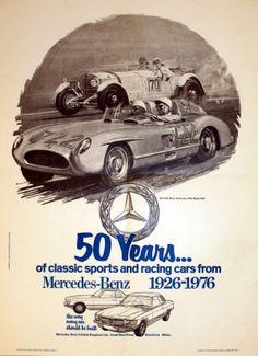 Mercedes Benz, 1976 - original vintage poster listed on AntikBar.co.uk