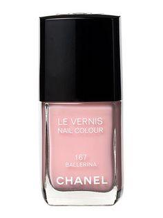 Chanel Nail Polish in soft pink #nutcrackerwedding #weddingnailpolish