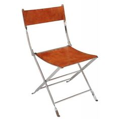 Safari Chair Leather W/Steel , Sarreid Ltd