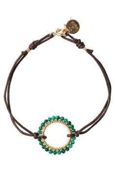 Wire-wrapped beaded ring bracelet   . . . .   ღTrish W ~ http://www.pinterest.com/trishw/  . . . .  #handmade #jewelry