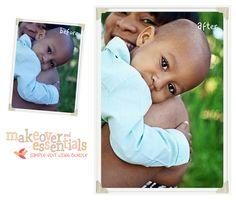 photoshop actions retouching skin eyes