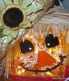 scarecrow, glass block