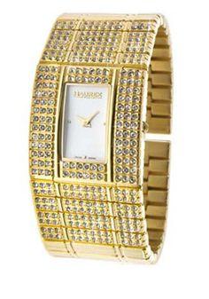 Haurex Women's Honey White Dial Gold-Tone Stainless Steel
