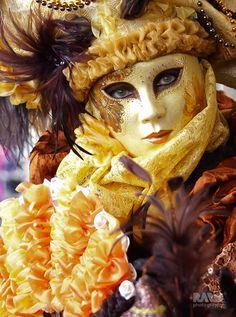 Beautiful eyes of a Venice mask