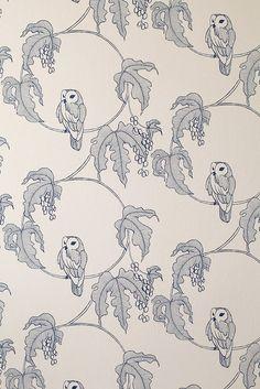 Owlet Wallpaper from Turner Pockock Cazalet | Made By Turner Pocock Cazalet | £72.00 | Bouf